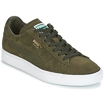 Chaussures Homme Baskets basses Puma SUEDE CLASSIC + Kaki / Blanc