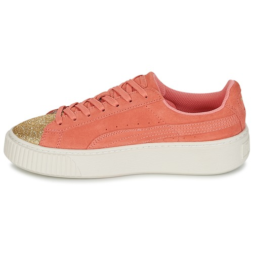 Chaussures Platform Glam Fille Suede Jr OrangeDoré Basses Baskets Puma b7f6gyY