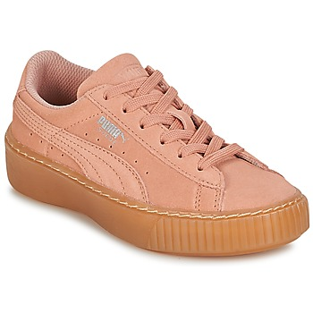 Chaussures Fille Baskets basses Puma SUEDE PLATFORM JEWEL PS Rose