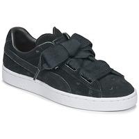 Chaussures Fille Baskets basses Puma SUEDE HEART VALENTINE JR Noir