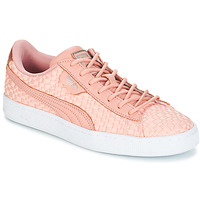 Chaussures Femme Baskets basses Puma BASKET SATIN EP WN'S Pêche