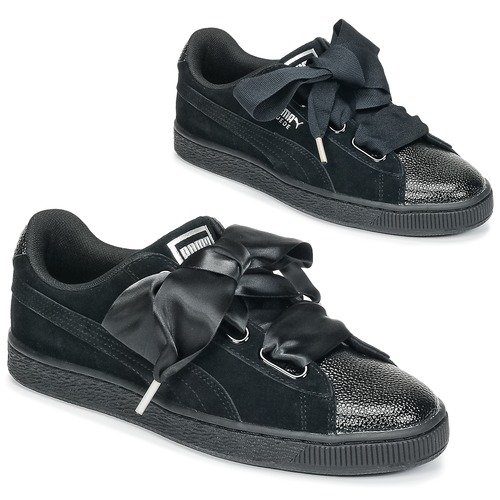 finest selection ea1e7 764d0 Puma SUEDE. 69.30. Chaussures Femme Baskets basses Puma SUEDE HEART BUBBLE  W S Noir ...