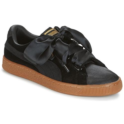 Chaussures Femme Baskets basses Puma BASKET HEART VS W'N Noir