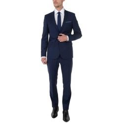 Vêtements Homme Costumes  Too Fashion COSTUME en toile de laine stretch coupe cintrée Bleu BL18