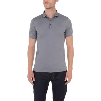Vêtements Homme Polos manches courtes Too Fashion Polo col fantaisie en liquid coton Gris fonc