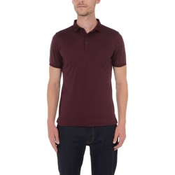 Vêtements Homme Polos manches courtes Too Fashion Polo col fantaisie en liquid coton Bordeaux BD79
