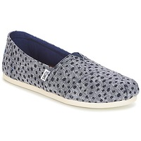 Chaussures Femme Slips on Toms Alpargata Navy Dots