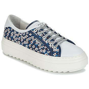 Serafini CAMP.30 Petite Sneakers Femme Bleu Bleu - Chaussures Baskets basses Femme