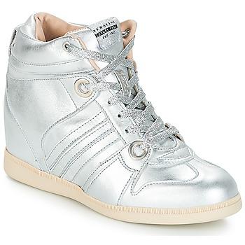 Chaussures Femme Baskets montantes Serafini MANHATTAN Argent
