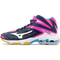 Chaussures Femme Baskets basses Mizuno Wave Lightning Z3 Mid Peacoat / White / Pink Glo