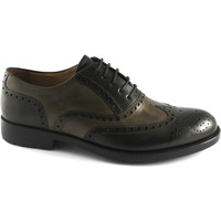 Chaussures Homme Richelieu Melluso U81121 chaussures brun chocolat homme derby SPACIUM en cuir ang Marrone