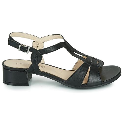 Satibo Sandales Caprice Nu Et pieds Noir Femme Rc34jq5AL