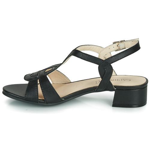Femme Noir Sandales Satibo Caprice Nu Et pieds v8nNOm0w