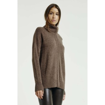 Vêtements Femme Pulls Max & Moi Pull NATION Femme Collection Automne Hiver Marron