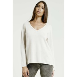 Vêtements Femme Pulls Max & Moi Pull NELSON Femme Collection Automne Hiver Blanc