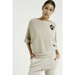 Vêtements Femme Pulls Max & Moi Pull NEW Femme Collection Automne Hiver Beige