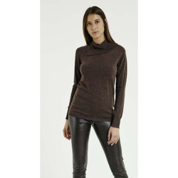Vêtements Femme Pulls Max & Moi Pull NICO Femme Collection Automne Hiver Marron
