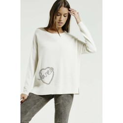Vêtements Femme Pulls Max & Moi Pull NIL Femme Collection Automne Hiver Blanc