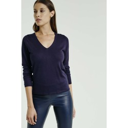 Vêtements Femme Pulls Max & Moi Pull NORMA Femme Collection Automne Hiver Bleu