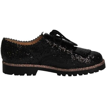 Chaussures Fille Mocassins Eli 6123V NEGRO French shoes Enfant Noir Noir