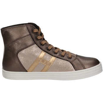 Chaussures Fille Baskets montantes Hogan Junior HXC1410Z270HAQ596K Basket Enfant Bronze Bronze