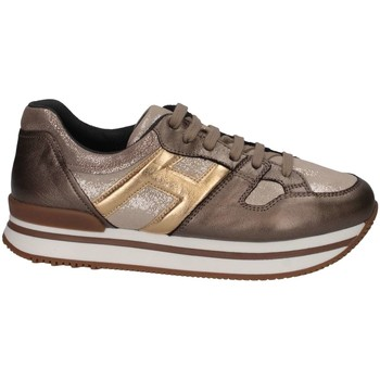 Chaussures Fille Baskets basses Hogan HXC2220T540HAQ596K Basket Enfant Bronze Bronze