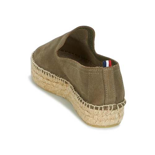 Slip 1789 Leather Double Femme Kaki On Cala Espadrilles dCsQtrh
