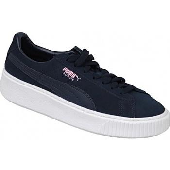 Chaussures Enfant Baskets basses Puma Suede Platform JR bleu