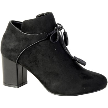 Chaussures Femme Bottines The Divine Factory Bottines Noir