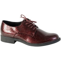 Chaussures Femme Derbies The Divine Factory Chaussure Derby  TDF3123 Bordeaux Rouge