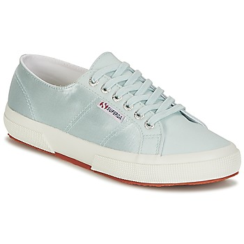 Chaussures Femme Baskets basses Superga 2750 SATIN W Bleu / Argenté