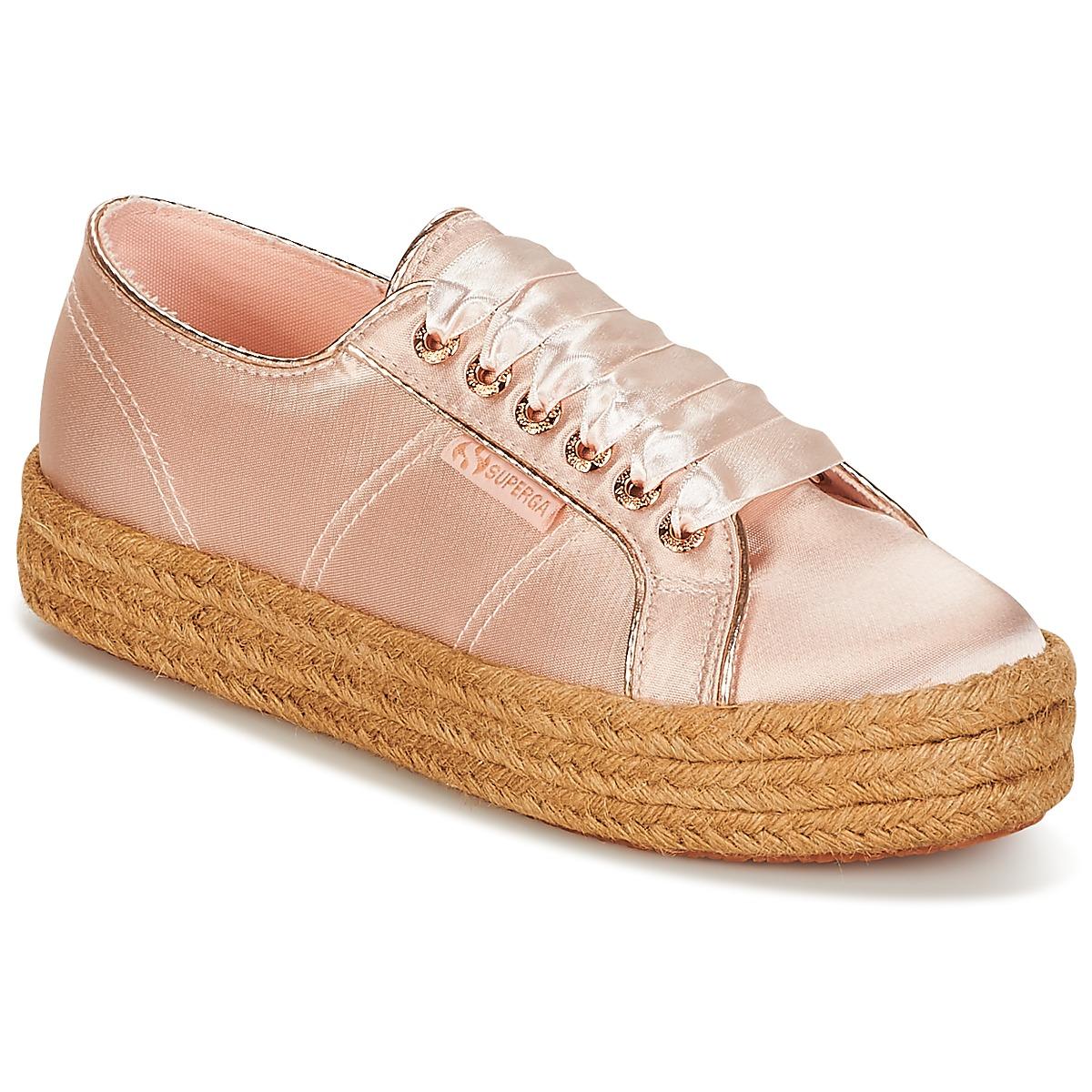Superga 2730 SATIN COTMETROPE W Rose - Livraison Gratuite avec  - Chaussures Baskets basses Femme