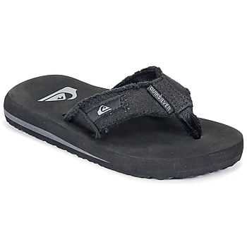 Chaussures Garçon Tongs Quiksilver MONKEY ABYSS YT B SNDL XKKC Noir