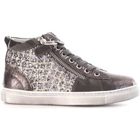 Chaussures Fille Baskets montantes Nero Giardini A732511F Basket Fille Grey/Gold Grey/Gold
