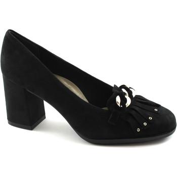 Chaussures Femme Escarpins Grunland Grünland ?tít SC3564 chaussures noires à talons en daim frange d Nero