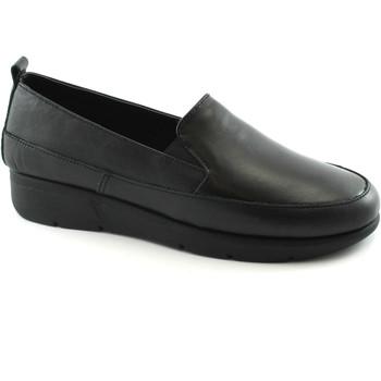 Chaussures Femme Mocassins Grunland Grünland BON SC3581 mocassins noirs femme peau élastique Nero