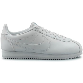 Chaussures Femme Baskets mode Nike Wmns Classic Cortez Leather Blanc Blanc