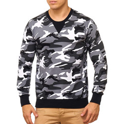 Vêtements Homme Pulls Violento Pull camouflage pour homme Pull V767 blanc camo Blanc
