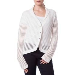 Vêtements Femme Gilets / Cardigans Armani jeans C5W41/YB Blanc Cassé