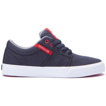 Chaussures Enfant Baskets basses Supra Chaussures  STACKS VULC II Black red white Noir