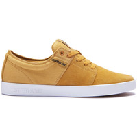 Chaussures Femme Baskets basses Supra Chaussures  STACKS II Amber gold white Femme enfant Jaune