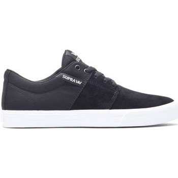 Chaussures Homme Baskets basses Supra Chaussures  STACKS VULC II Black white Noir