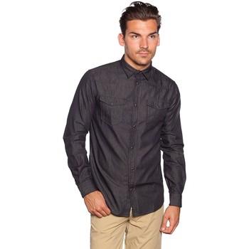 Vêtements Homme Chemises manches longues Armani jeans U6C19 Noir