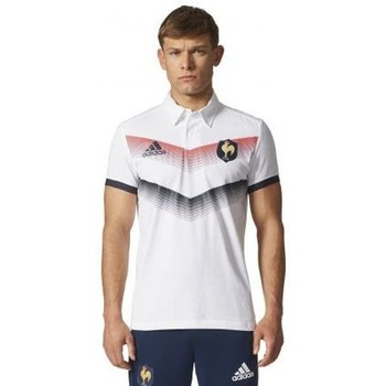 Vêtements Homme Polos manches courtes adidas Originals Polo de rugby supporter du XV de France blanc
