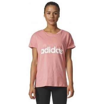 Vêtements Femme T-shirts manches courtes adidas Originals Tee shirt femme linear Lose rose