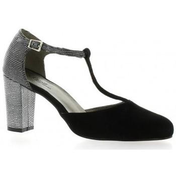 Chaussures Femme Escarpins Reqins Escarpins cuir velours Noir