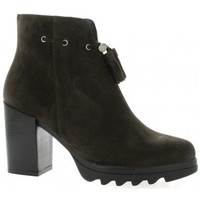 Chaussures Femme Bottines Riva Di Mare Boots cuir velours Anthracite