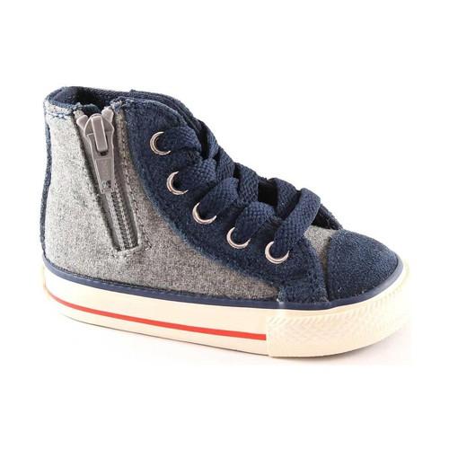 Chaussures Enfant Chaussons bébés Converse 746380C  ct gris zip côté chaussures de bébé tout de milieu étoi Grigio