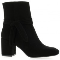 Chaussures Femme Bottines Pao Boots cuir velours Noir