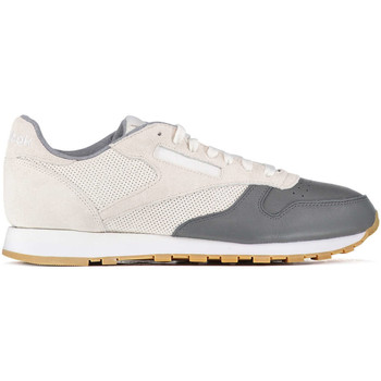 Chaussures Femme Baskets basses Reebok Sport Baskets  Cl Leather Ls Ecru Marine Homme Ecru